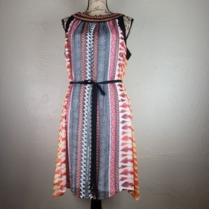 Luxology Pull-over Belted Beaded Dress